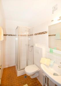 Koupelna v ubytování Hotel Garni Hochwurzen