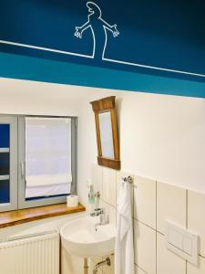 A bathroom at Auenlandhof