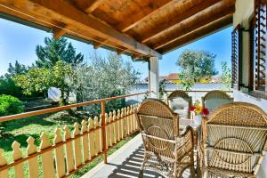 A balcony or terrace at Adriatico Bungalow