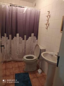 A bathroom at Vitrine apart. Hotel