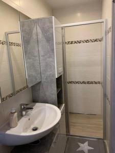 A bathroom at 2Raum-Apartment Leznew