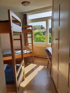 A bunk bed or bunk beds in a room at Oslo Vandrerhjem Holtekilen