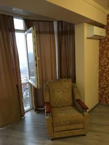 Гостиная зона в Apartment on Leningradskaya 81