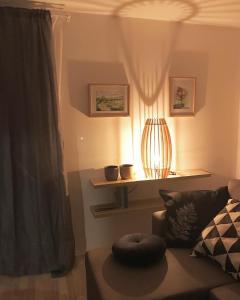A seating area at Lesnavesna designer Apartment with a garden