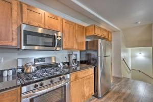A kitchen or kitchenette at Modern Townhome with Deck Steps to Ouray Hot Springs
