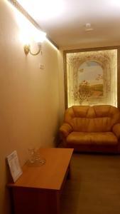 A seating area at Kroshka Enot Mitino