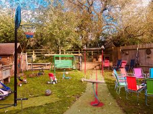 Children's play area at Squirrel Barn