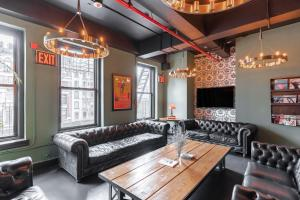 A seating area at The Bowery House