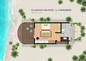 The floor plan of Ellaidhoo Maldives by Cinnamon