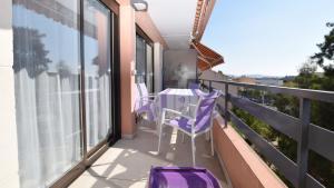 Balcon ou terrasse dans l'établissement SCI SETTE B Locations