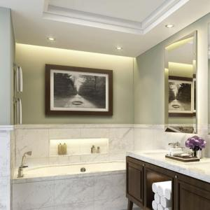 A bathroom at 2 Bedroom with Full Burj View