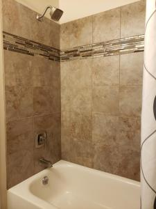 A bathroom at Bridge Street Inn