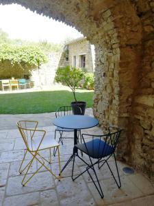 Terrasse ou espace extérieur de l'établissement Le Mas Bellane