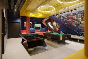 A pool table at The Student Hotel Vienna