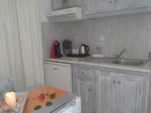 Cuisine ou kitchenette dans l'établissement Kiklamino Studios & Apartments