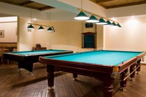 A pool table at Siberia Hotel
