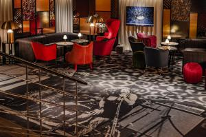 The lounge or bar area at Hotel Rival
