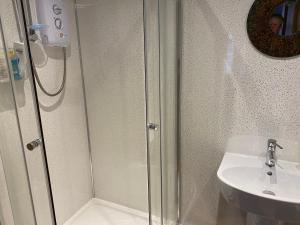 A bathroom at The Barley House