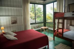 A bed or beds in a room at La Gondola