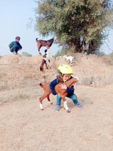 Children staying at Chhotaram Prajapat Home Stay