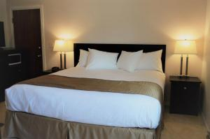 A bed or beds in a room at Western Traveller Motel