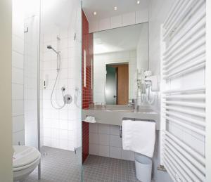 A bathroom at Qualitel Wilnsdorf