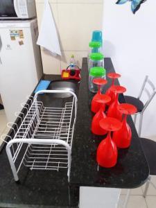 A kitchen or kitchenette at Flat Maragogi 3