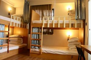 A bunk bed or bunk beds in a room at Travel light Guilin