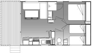 The floor plan of Camping Figurotta