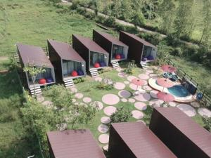 A bird's-eye view of The Cabins Guest House