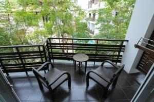 A balcony or terrace at Le Patta Hotel Chiang Rai