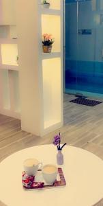 Um banheiro em Chalet pyramisa