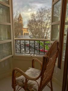 Un balcón o terraza de Hotel Asturias