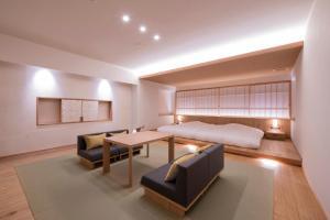 A seating area at Shosenkaku Kagetsu
