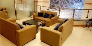 Uma área de estar em Sadan Plaza