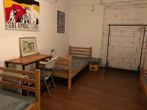 Essbereich im Hostel
