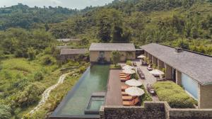 A bird's-eye view of The Pavilions Himalayas The Farm