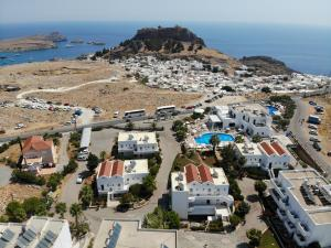 A bird's-eye view of Lindos View Hotel