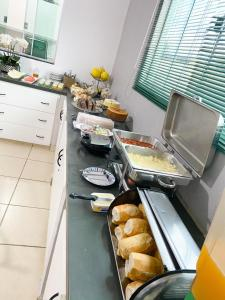 Breakfast options available to guests at Hotel Vitoria