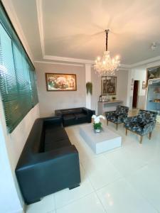 A seating area at Hotel Vitoria