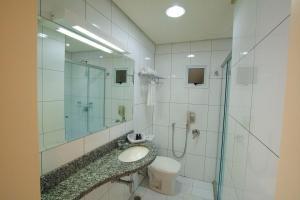 A bathroom at Locanda Hotel