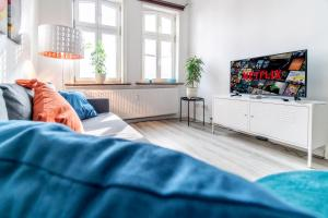 Ein Sitzbereich in der Unterkunft Uhlpartment - Historisches Apartment im Herzen von Uelzen