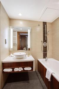 Łazienka w obiekcie Hilton Garden Inn Rzeszów