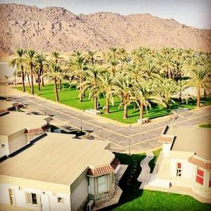 Uma vista aérea de Gina Alkhalil Chalets