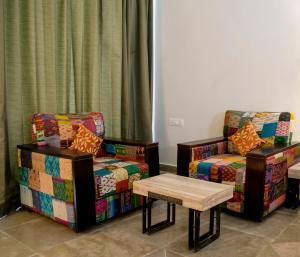 A seating area at Via Lakhela Resort & Spa