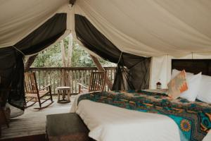 A bed or beds in a room at Firelight Camps