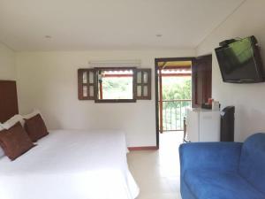 Кровать или кровати в номере Finca Hotel la Manuela