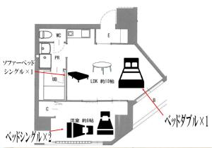 The floor plan of TEIOH Namba