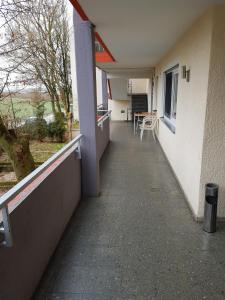 A balcony or terrace at Hotel Ditzingen