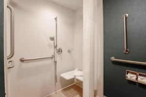 A bathroom at Hampton Inn Chicago-Midway Airport